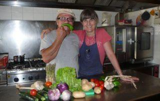 Le verdure del Cucco in cucina